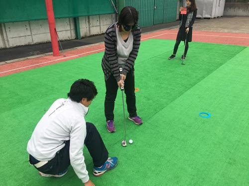 ブラインドゴルフパター体験会